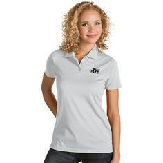 Women's Antigua Utah Jazz Quest Desert Dry Polo, Size: Medium, White