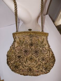 Vintage Purse// Belle Epoque // Victorian Accessories // Romantic Wearable's // Evening Bags  // by MaisonettedeMadness on Etsy