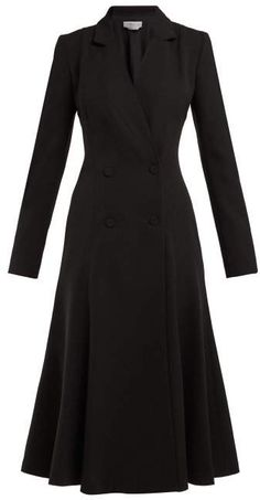New Gabriela Hearst Walker double-breasted silk-crepe midi dress Womens Dresses. offers on top store Dress Outfits, Fashion Outfits, Fashion Trends, Fashion Coat, Maxi Dresses, Rajputi Dress, Mode Mantel, Midi Flare Skirt, Midi Skirts