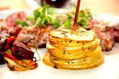 Kartoffeltårn med timian og brunet smør