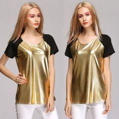 Stylish New Fashion Lady Womens Casual Short Sleeve O-neck T-shirt Tops T-shirt Blouse