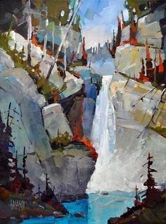 "Hayashi, Randy - ""Upper Falls, Johnston Canyon"" #color, #design, #composition…"