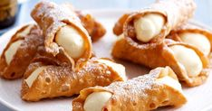 Silvana Silvestro of Silvana's Sicilian shares her recipe for Italian dessert classic, cannoli. Crisp pastry tubes filled with sweet custard? Lemon Dessert Recipes, Homemade Desserts, Buffet Recipes, Citrus Recipes, Sweet Desserts, Sweet Recipes, Delicious Desserts, Eclairs, Italian Desserts