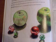 Licht-schaduw appels