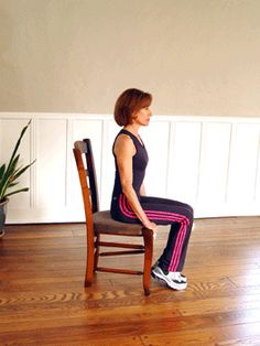 Turn your chair into an abs-toning machine with this easy exercise. You can even sneak it in at work! | via @SparkPeople