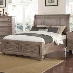 Allegra King Bed in Brown by New Classic - Home Gallery Stores