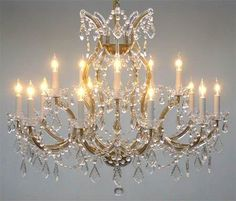 Swarovski Crystal Trimmed Maria Theresa Chandelier Crystal Lighting Chandeliers Lights Fixture Pendant Ceiling Lamp For Dining Room Entryway Living Room X - Chandelier Shades, Chandelier Lighting, Crystal Chandeliers, Crystal Sconce, Large Chandeliers, Bronze Chandelier, Bedroom Lighting, Bedroom Decor, Ceiling Lamp