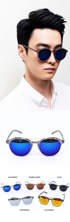Accessories :: Sunglasses & Glasses :: The Oval Lense Detacher-Sunglasses 63 - GUYLOOK Men's Trendy Fashion Clothing Online