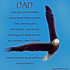 in memory of quotes | Dad Sympathy Card - all-greatquotes.com