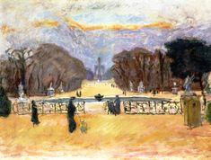 The Tuileries Garden / Pierre Bonnard - 1912