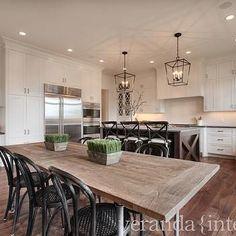 Restoration Hardware Flatiron Dining Table, Transitional, kitchen, Veranda Interiors