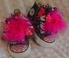 Pink BLING Converse  baby/toddler/girl shoes by VivaLaGlamBoutique, $60.00
