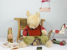Poor Old baby Dumpling C1930/40 Baby bear in need of a cuddle!  www.onceuponatimebears.co.uk