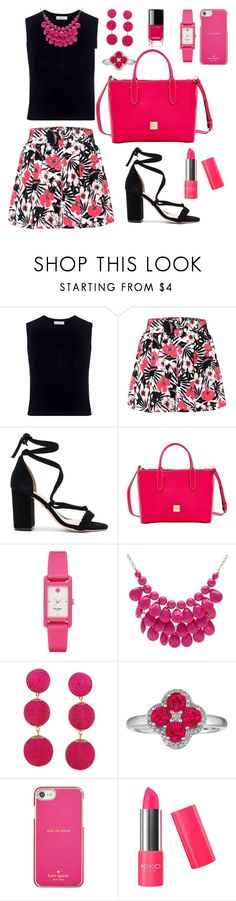 """""""Pink and black"""" by evgeniia-1993 ❤ liked on Polyvore featuring A.L.C., Etro, Raye, Dooney & Bourke, Kate Spade, Alexa Starr, Humble Chic and Chanel"""