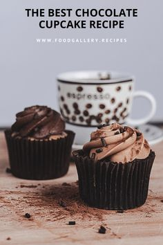 This is the best chocolate cupcake you will ever eat! Homemade Cake Recipes, Best Cake Recipes, Cupcake Recipes, Cupcake Cakes, Bread Recipes, Baking Recipes, Easy Recipes, Cake Decorating Equipment, Best Chocolate Cupcakes