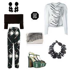 #howcanistop #dorotheeschumacher #offshoulder #cropped #knittop #jwanderson #puffsleeve #sweatshirt #jilsander #printed #taperedpants #monies #moniesjewelry #contrast #lautrechose #emeraldgreen #tamaramellon #clutch #fashion #streetstyle #look #outfit #playful #outfitgrid #streetstyle #style #fashionblog #polyvore #farfetch #netaporter #stylebop