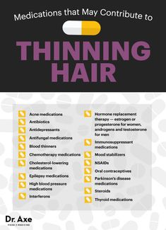 Medications that can contribute to thinning hair - Dr. Axe http://www.draxe.com #health #holistic #natural