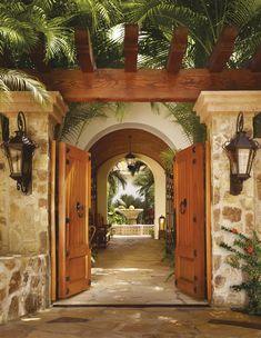 Mexican Courtyard Garden Century after century,... - neumads