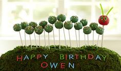 Owen is a very lucky chap to have this awesome very hungry caterpillar cake pop cake! Cute Food For Kids?: 22 The Very Hungry Caterpillar inspired food creations Colorful Birthday Party, Birthday Parties, Birthday Ideas, Baby Birthday, Birthday Cakes, Cake Pops, Hungry Caterpillar Food, Cute Cakes, Awesome Cakes