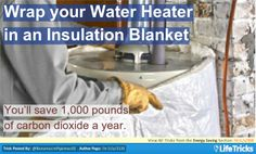 Energy Saving - Wrap your Water Heater in an Insulation Blanket