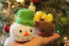 Amigurumi Food and More: Christmas Ornaments Snowman