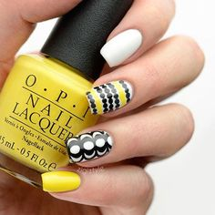 30 Attractive Yellow Nail Designs 2015