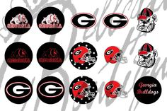 Georgia Bull Dogs Bottle Cap Images by belleafulboutique on Etsy, $1.50