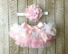 Bebé niña volante inferior Tutu Bloomer & venda por coutureflower