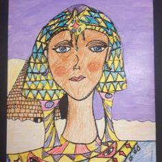 Egyptian Style Portraits. Little Dog Art Blog Arts Ed, My Arts, Ancient Egypt For Kids, Princess Zelda, Disney Princess, Cleopatra, Little Dogs, Dog Art, Art Blog