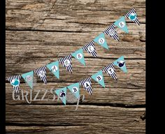Custom Whale Baby/Birthday Banner by GrizzShop on Etsy