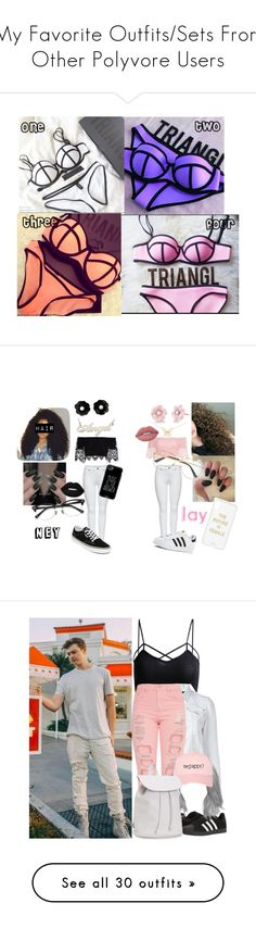 """My Favorite Outfits/Sets From Other Polyvore Users"" by beautifulney ❤ liked on Polyvore featuring M&Co, Lime Crime, EyeBuyDirect.com, Sonix, Gucci, Casetify, Vans, adidas, Irene Neuwirth and Forever 21"