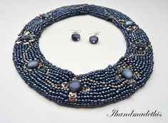 Hematite beaded necklace Handmade Jewelry, Beaded Necklace, Accessories, Beaded Collar, Diy Jewelry, Handmade Jewellery, Craft Jewelry, Beads, Handcrafted Jewelry