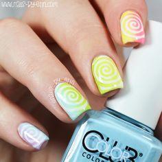 Rainbow Swirl Nails   NailsByErin