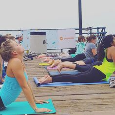 Love being part of a wonderful community! Join the fun next week for Roga on the pier! #pierRoga#santamonica#yogamatic#anymatic
