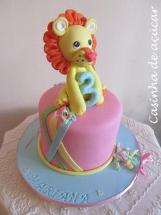 Mariana wanted a cake with a Lion. She was never worried about colours or shapes, she just wanted a Lion on her birthday cake. Lion Cakes, Cupcakes, Jungle Safari, Cake Ideas, Fondant, Birthday Cake, Shapes, Party, Desserts