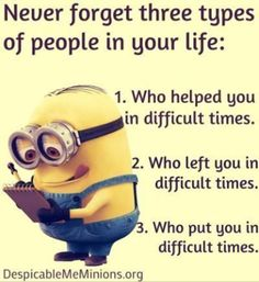 Cartoons minions quotes and funny minions pics. Dear Karma, I have a list of people you missed, with love Dave, the minion! True Quotes, Great Quotes, Funny Quotes, Inspirational Quotes, Funny Humor, It's Funny, Minion Jokes, Minions Quotes, Minion Love Quotes