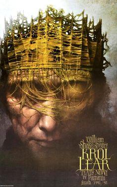 Poster para Rey Lear de Wieslaw Walkusk, Polonia, 1991. http://www.yekibud.es/shakespeare-y-cervantes-ii/