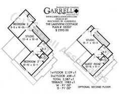 Lakeview Cottage House Plan 05357, 1st Floor Plan, Mountain Style ...