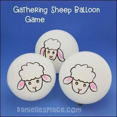 Gathering Sheep Balloon Game for The Good Shepherd Bible Lesson for Children's Ministry