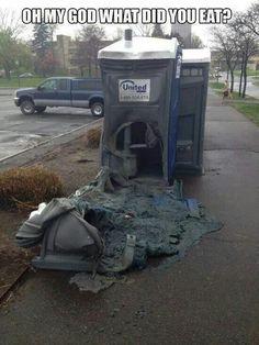 Haha. Poor porta potty