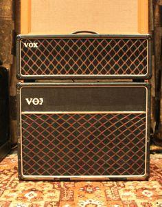 Vintage 1964 Vox AC30 Super Twin Top Boost Grey Panel JMI Head Cab Amplifier