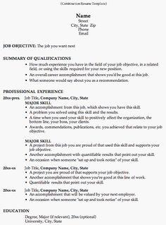 combinationresumetemplategif - Job Resume Sample