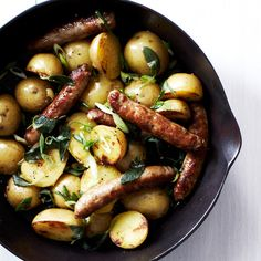 Boiled Potatoes with Sage Butter