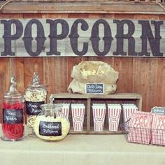 Definitely need a popcorn bar . . . and red vines!