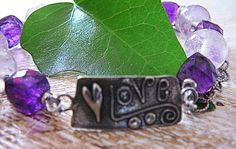 Love is in the Air  Artisan Bracelet / Amethyst by EarthLifeShop