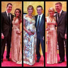 The Toyota drivers at the #NASCAR Awards Banquet! #KyleBusch #SamanthaBusch #MattKenseth #KatieKenseth #ClintBowyer #LorraPodsiadlo #Padgram