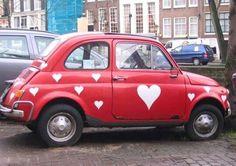 L.O.V.E. FIAT500,Amsterdam !!