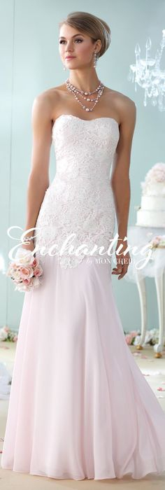 Enchanting by Mon Cheri - The Premiere Collection ~Style No. 215107 #laceweddingdresses