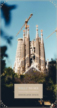 There are a few landmarks one just can't miss when #traveling to #BarcelonaSpain. One of them is the Sagrada Familia Cathedral. #Travel #TravelSpain #TravelBarcelona #TravelEurope #SagradaFamilia #BarcelonaWhatToSee Spain Travel Guide, Europe Travel Tips, Travel Goals, Travel Destinations, European Vacation, European Destination, European Travel, Travel Advise, Travel Info