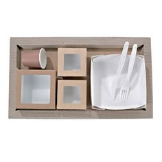 Kraft Meal Tray - 50 Pcs Pack - BioandChic